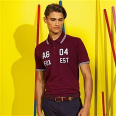 48f28351 Men's classic fit tipped polo. Asquith & Fox ...